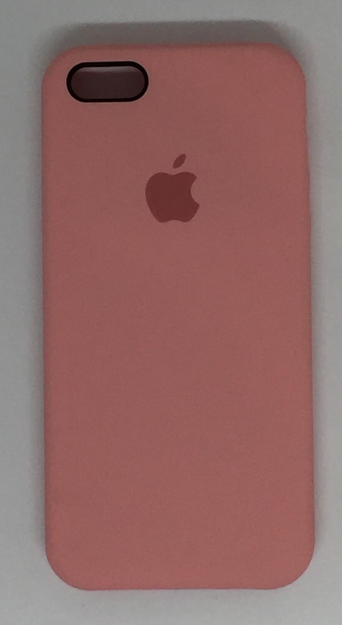 "Чехол Silicon iPhone SE/5s/5 - ""Нежно-розовый №12"""