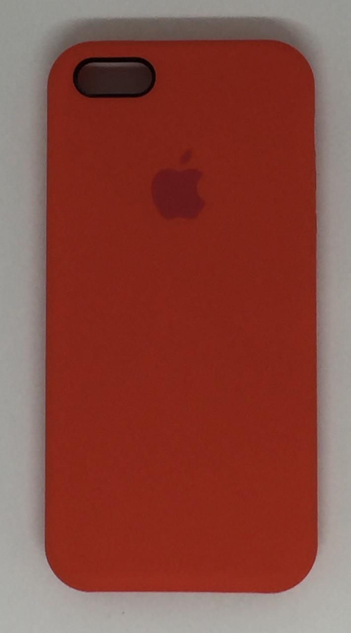 """Чехол Silicon iPhone SE/5s/5 - """"Оранжевое настроение №13"""""""