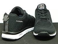 Кроссовки мужские сетка Classica черные на белой подошве
