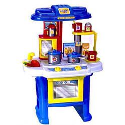 Детский игровой набор кухня Bambi с посудой, синяя