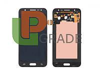 Дисплей  Samsung J200H Galaxy J2 + тачскрин, черный, OLED, копия хорошего качества