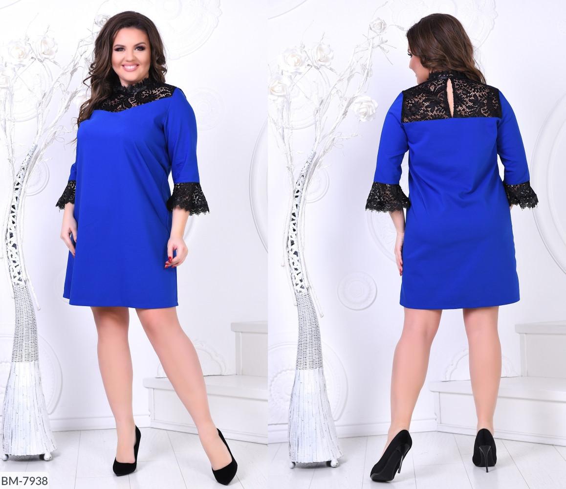 Платье женское нарядное с гипюром батал размеры 46-48 50-52 54-56 58-60 Новинка 2020 есть много цветов