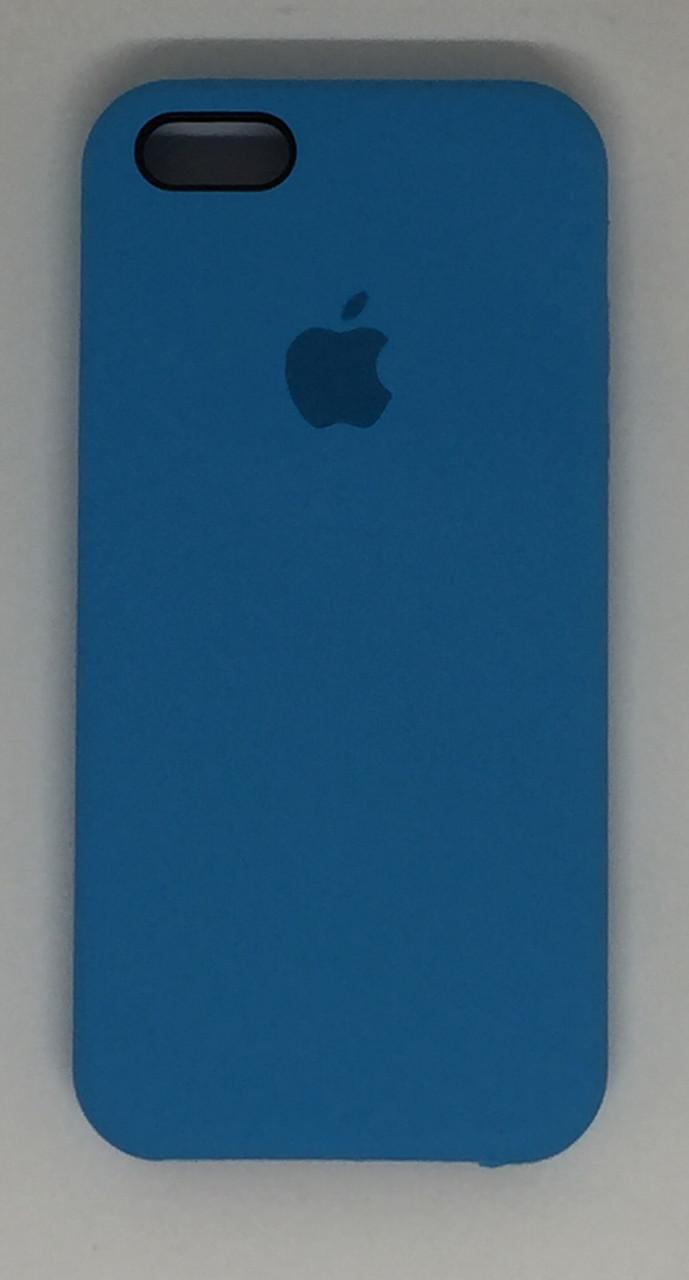 """Чехол Silicon iPhone SE/5s/5 - """"Голубой №16"""""""