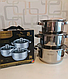 Набор кухонной посуды Rainberg кастрюль на 6 предметов (2.1/2.9/3.9л), фото 4