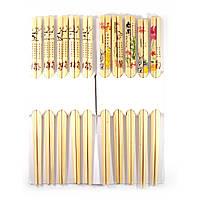 Палочки для еды бамбук (10 пар) (24х10х1,5 см)