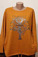 Кофта женская шнуровка дерево