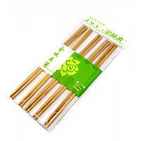 Палочки для еды бамбук (10 пар) (24х12х1 см)