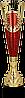 Кубок  4196, золотисто'-красный