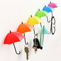Крючок - Ключница универсальная Зонтики для мелочей 3шт/уп. (120709)