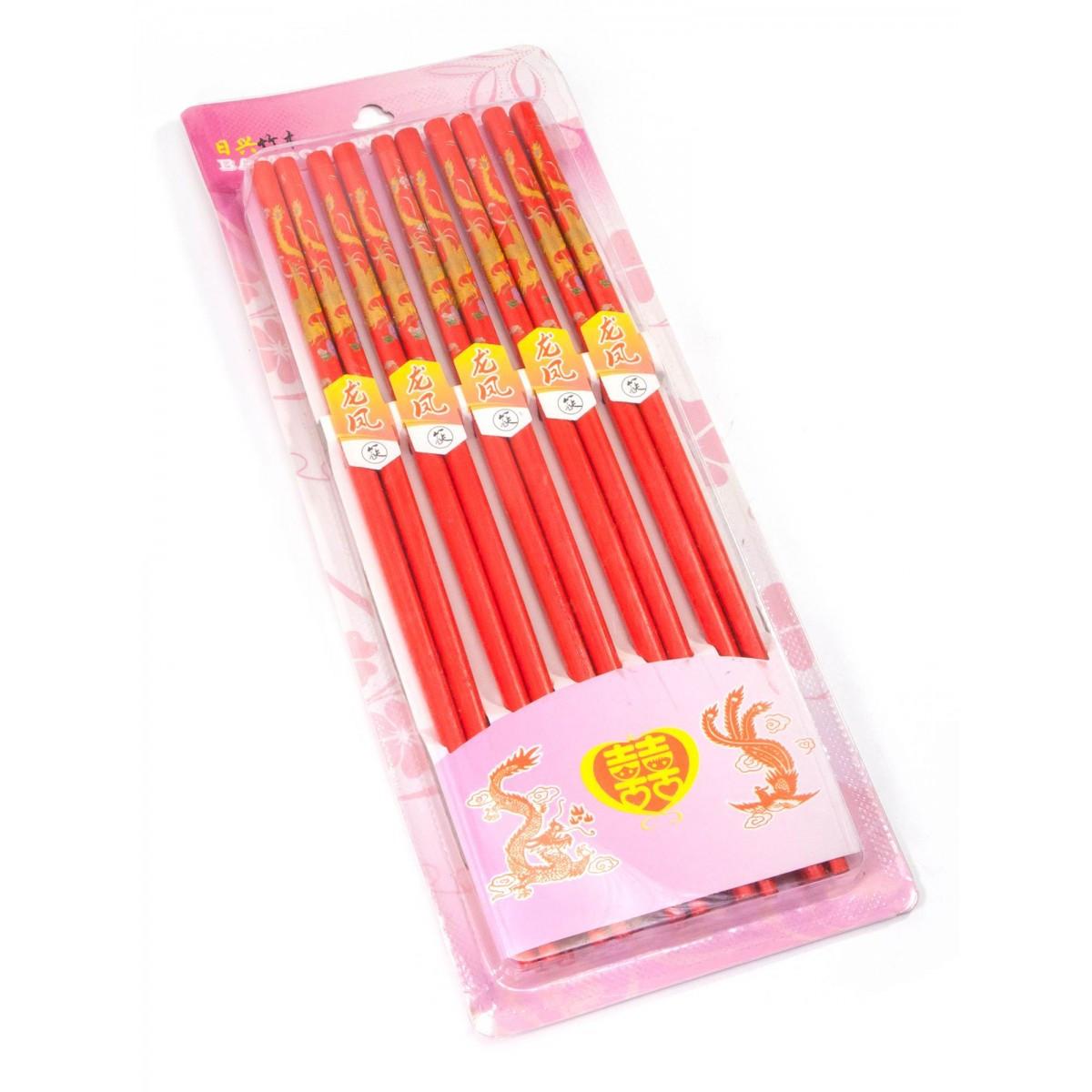 Палички для їжі бамбук (10 пар) (29х11х1,5 см)