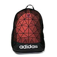 Стильный молодежный рюкзак Adidas с рефлективными вставками, Материал: Текстиль + качественный кож зам