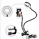 Держатель для телефона с LED подсветкой гибкий штатив селфи кольцо, фото 4