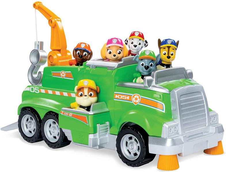 Paw Patrol Щенячий патруль спасательная машина Рокки и 6 фигурок 6054871 Rocky s Total Team Rescue