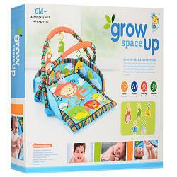 Развивающий коврикдля младенца с подвесными игрушками 55 х 67 см.