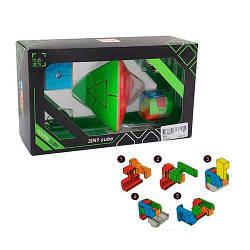 Набор головоломок JS YOU PIN Пирамидка+2 брелка, 22х12.5х8 см.