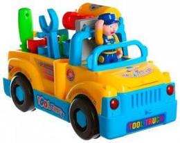 Детский конструктор Huile toys машинка-грузовик с набором инструментов