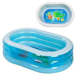 Бассейн детский надувной овальный Intex на 238 литров, голубой
