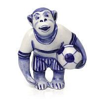 Статуэтка Шимпанзе с мячом гжель керамика