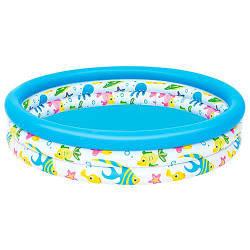 Бассейн надувной детский круглый BestWay на 140 литров, белый
