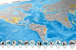 Скретч карта Discovery Maps World на украинском языке (112019)