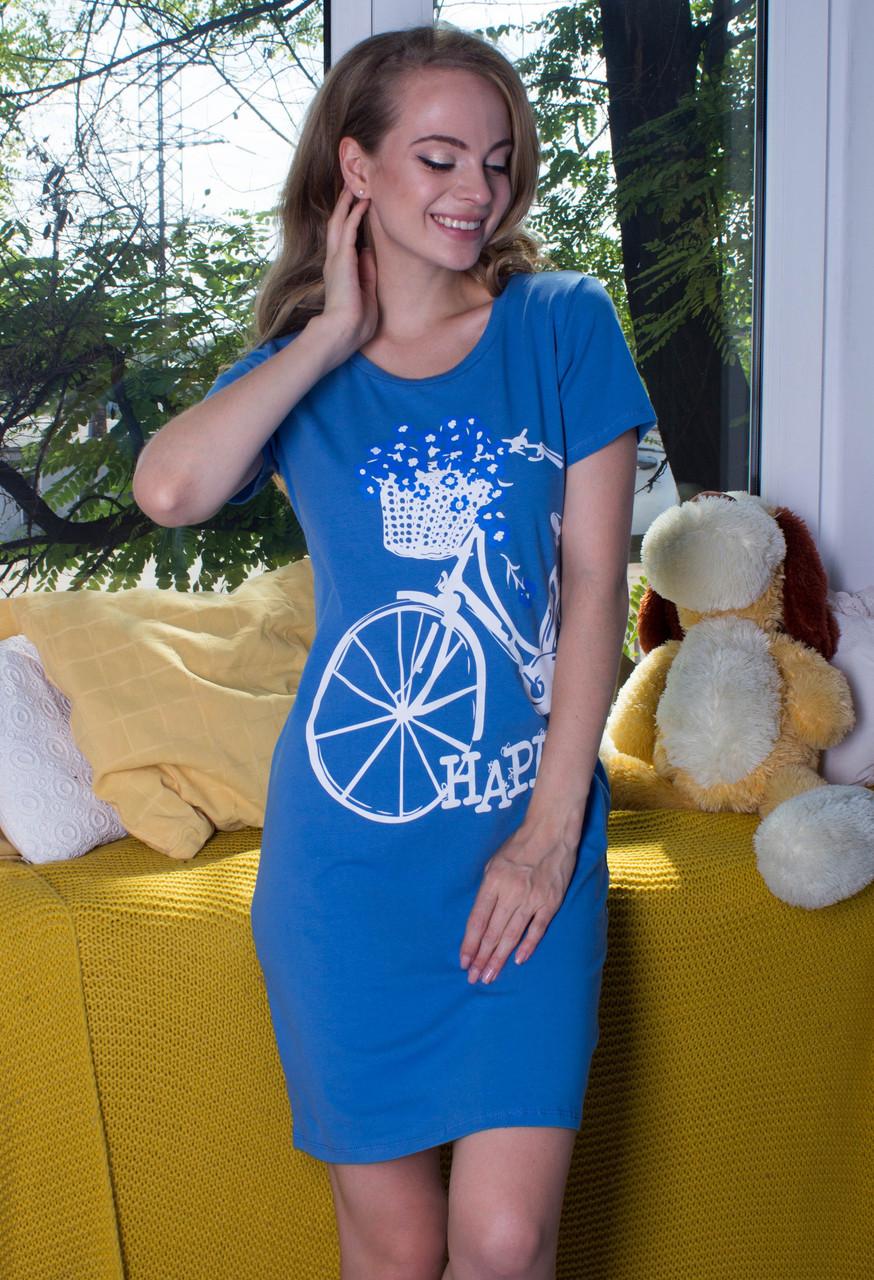 Туника домашняя женская трикотажная хлопковая одежда для дома