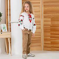 Вишиванка MEREZHKA для дівчинки в стилі бохо Розочка розмір 134 по росту