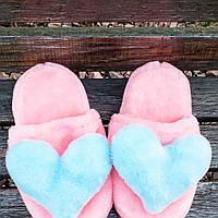 Тапочки розовые с сердцами 36-41р