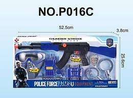 Игровой детский набор Полицейского LimoToy автомат с рацией и биноклем. Подарок мальчику от 3 лет