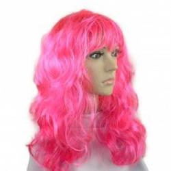 Карнавальный парик Волнистый, розовый (116285)