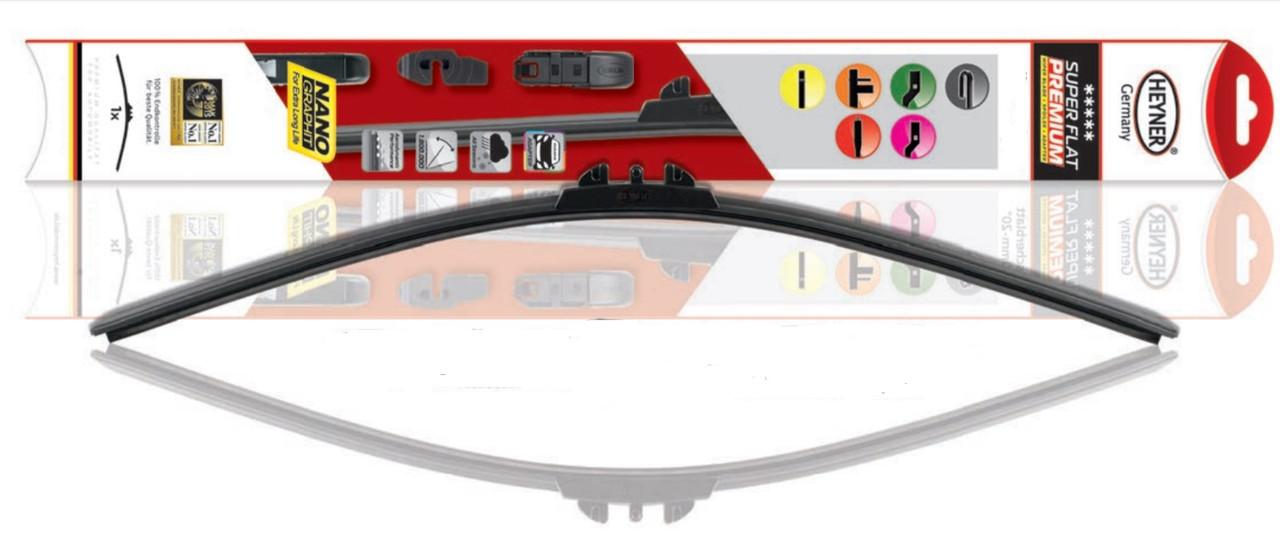 """Щетка стеклоочистителя  22""""/56 см Heyner Super Flat Premium 282000 с набором адаптеров"""
