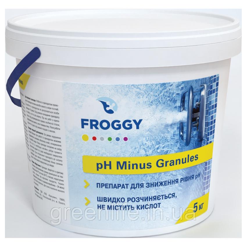 PH minus , Froggy ,pH-минус , Фрогги, в гранулах 5 кг