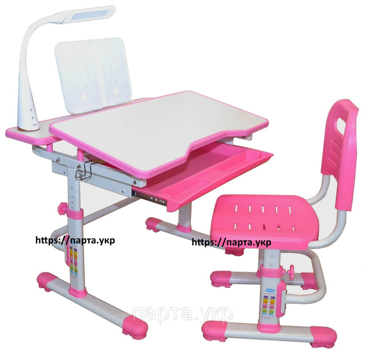 Парта трансформер 80*60 см и стул растущий, 2 цвета