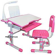 Парта трансформер 80*60 см и стул растущий, 2 цвета, фото 1
