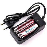 Комплект зарядное устройство + 2шт Аккумулятор X-BALOG 18650 8800 mAh, фото 1