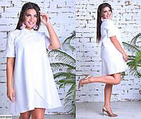 Нарядное женское платье белого цвета, размеры: 50-52, 46-48, 54-56, 58-60
