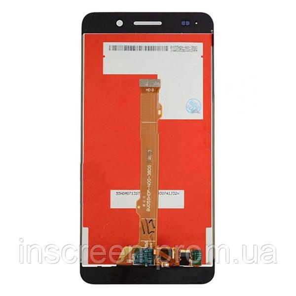 Экран (дисплей) Huawei Y6 II (CAM-L21) с тачскрином (сенсором) золотой, фото 2