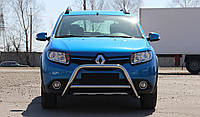 Защита переднего бампера (кенгурятник)  Renault Sandero Stepway (2012-), фото 1