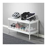 IKEA MURVEL Взуттєва полку, сіра, фото 2