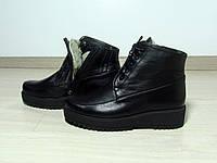 Женские кожаные ботинки на шнурке, фото 1