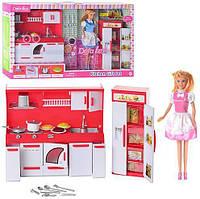 Кукла для девочки Defa с кухней, 29 cм.