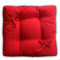 Подушка на стул табурет    Color mini 35x35x5 см с завязками ассортимент