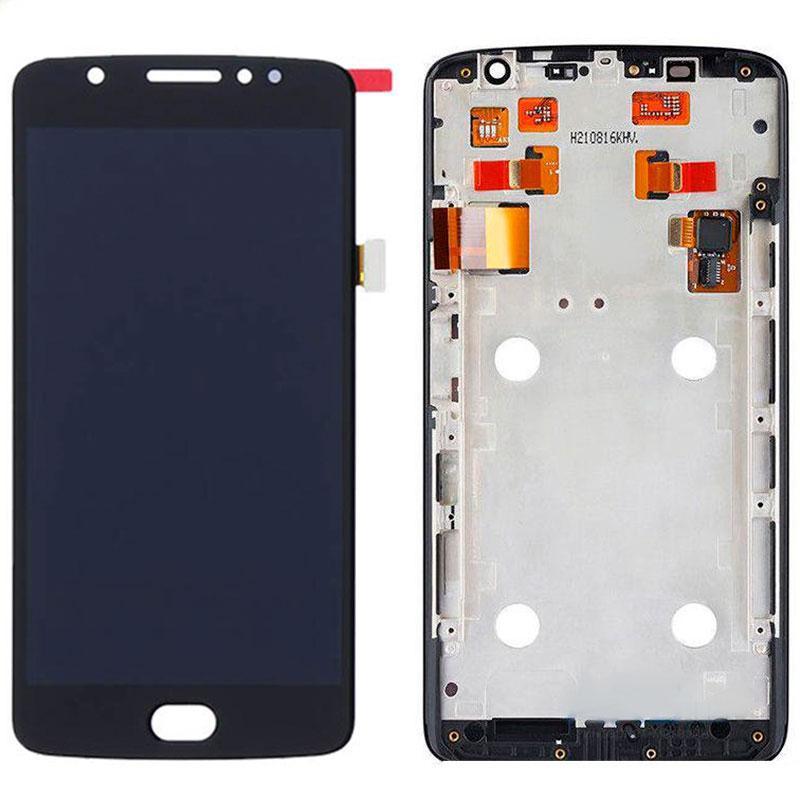 Дисплей и сенсор (модуль) на Motola Moto X Play (XT1562) черный с рамкой