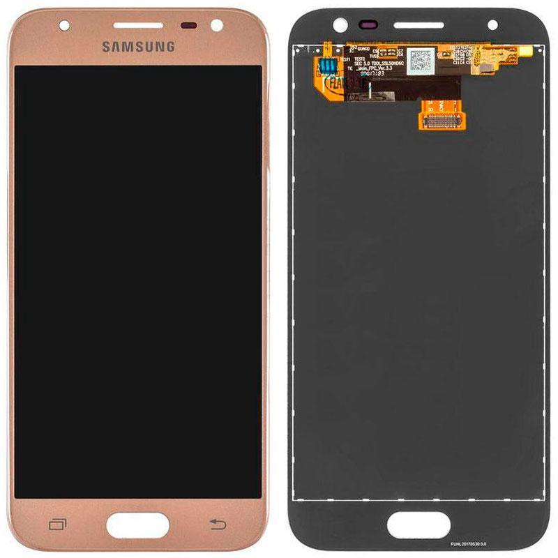 Дисплей і сенсор (модуль) на Samsung J730H, J7 - 2017 золотий