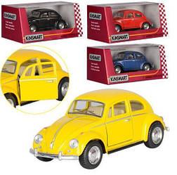 Машинка детская металлическая инерционная, 1:32 Volkswagen, желтая