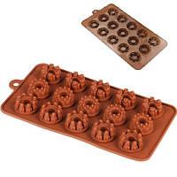 """Форма силикон для конфет """"Cake"""" 15шт/л 20.5*11*1.5см"""