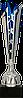 Кубок  4227, серебристо'-синий