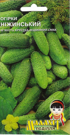Семена огурец Неженский 0.5г Зеленый (Малахiт Подiлля)