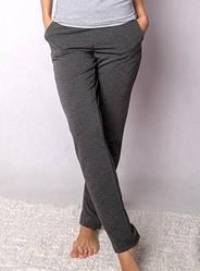 Спортивные штаны женские трикотажные двухнитка, серые