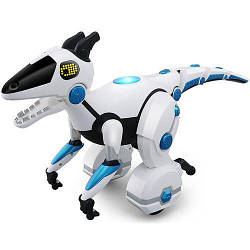 Интерактивный робот динозавр Bambi Smart Dinо на пульте управления 49x31x16 см, белый. Умный подарок ребенку