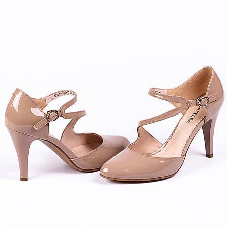 Элегантные туфли из лакированной кожи на каблуке средней высоты